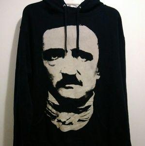 NWOT Black Craft Cult Edgar Allan Poe Hoodie